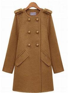 Cute Euramerican Style Slim Long Overcoat: dressyours.com