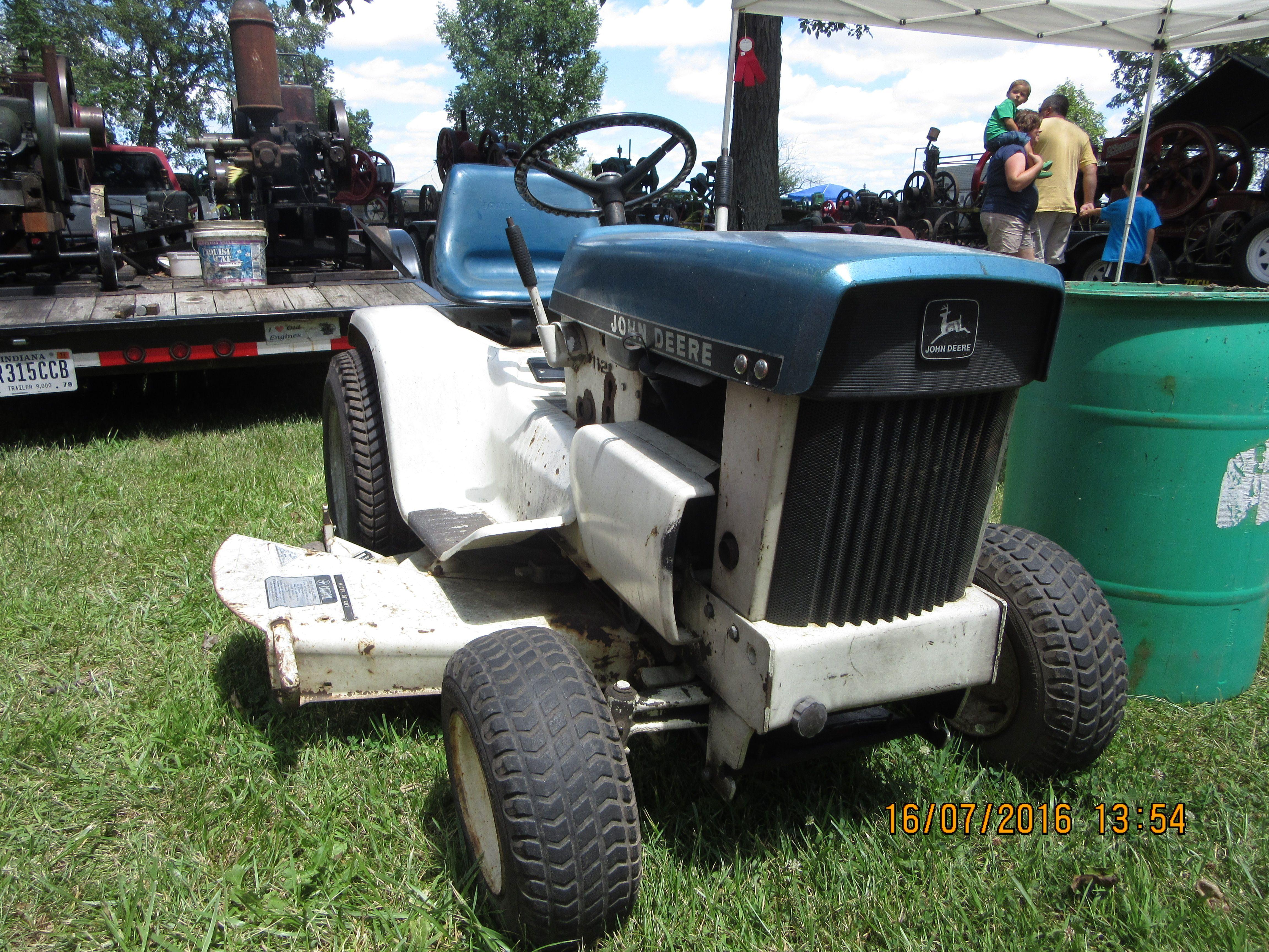 Blue John Deere 112 Patio Garden Tractor