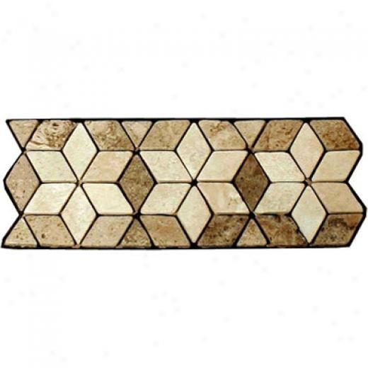 Decorative Travertine Tile Borders Caribe Stone Decorative Borders  Travertine Star Noce Tile
