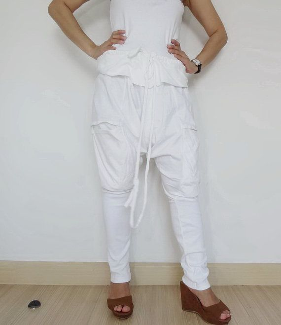 Traditional Style String, Tie Ninja Comfortable,Unisex White Cotton jersey. on Etsy, $39.00
