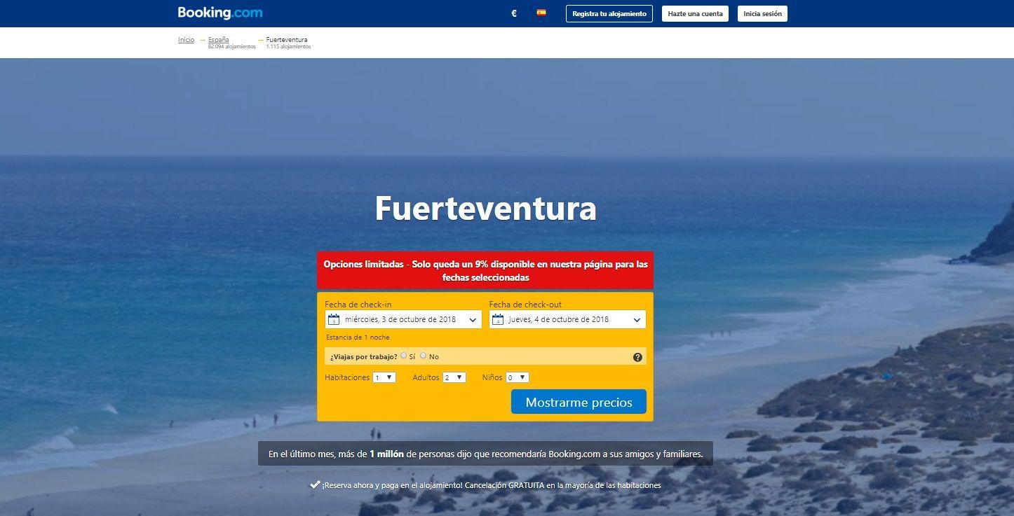 Más de 1200 alojamientos en la Isla de Fuerteventura. ¿A