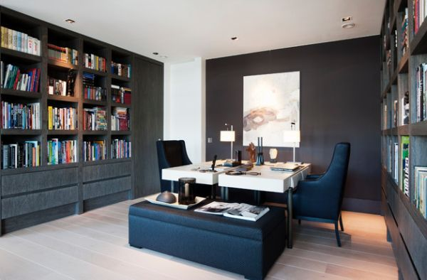 30 Shared Home Office Ideas That Are Functional And Beautiful Home Office Layouts Shared Home Offices Modern Home Office