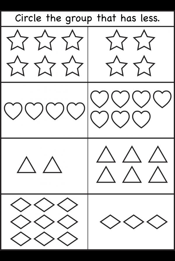 Comparison Worksheets More Or Less 2 Worksheets Free Printable Worksheets Kindergarten Math Worksheets Free Kindergarten Worksheets Kids Math Worksheets
