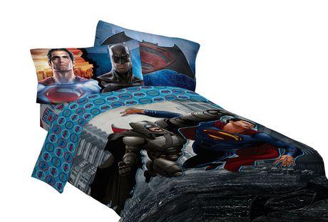 Batman V Superman Twin Full Reversible Comforter Multi Coloured