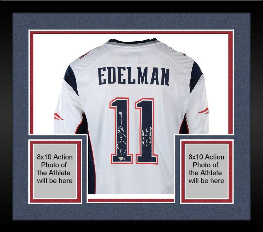 hot sale online 3d94a b9d70 Autographed Julian Edelman Patriots Jersey Fanatics ...