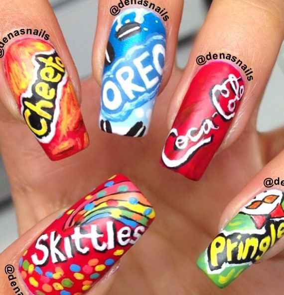 Cool logo nails!!!! all my favourite things!!!   Nail designs ...