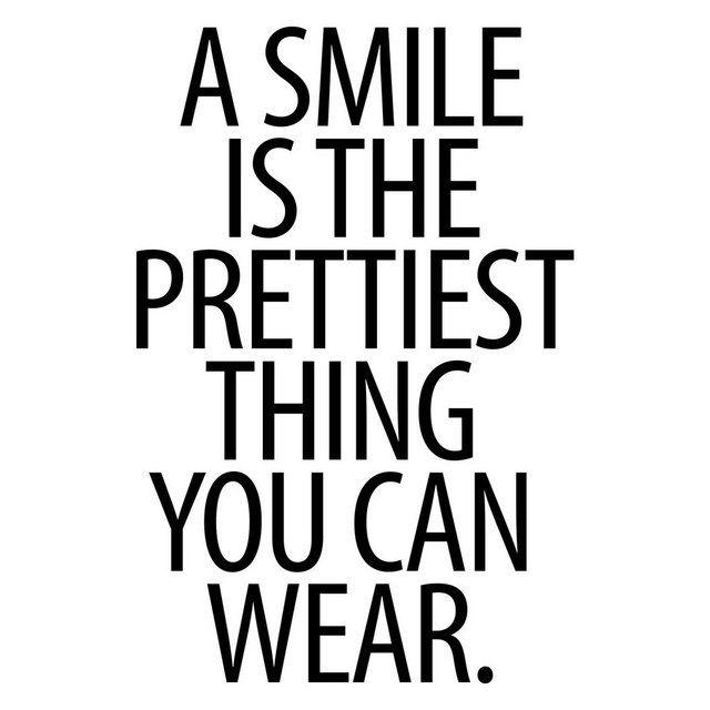 Photo of Bilderwelten Wandtattoo »A Smile is the prettiest thing Sans Serif« online kaufen | OTTO