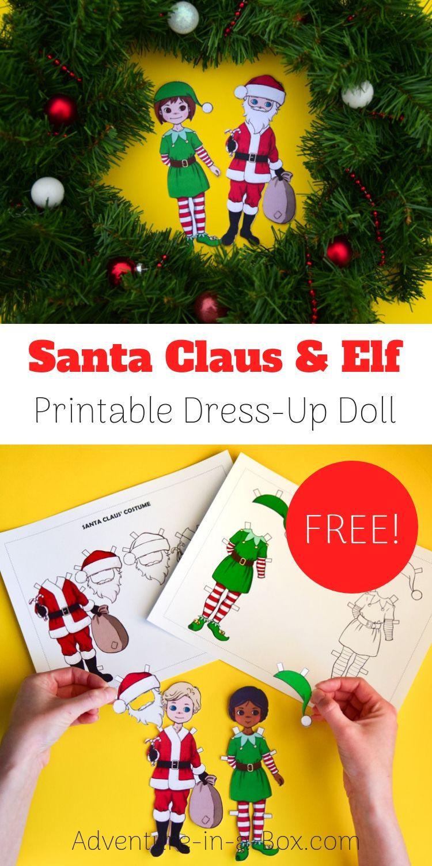 Free Printable Santa Claus Paper Doll Free Printable Crafts Printable Crafts Paper Dolls