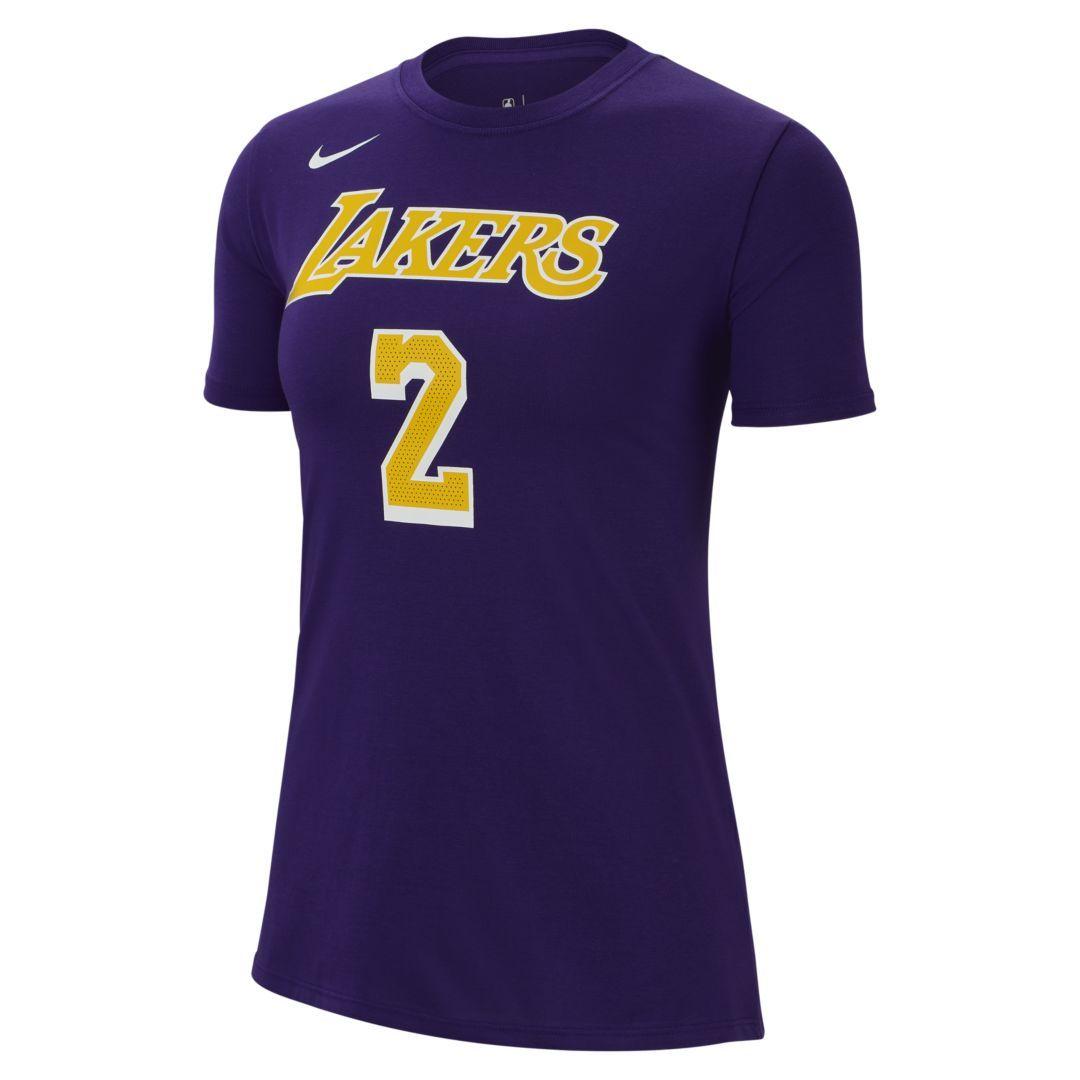 newest 77221 dad12 Lonzo Ball Los Angeles Lakers Nike Dri-FIT Women's NBA T ...
