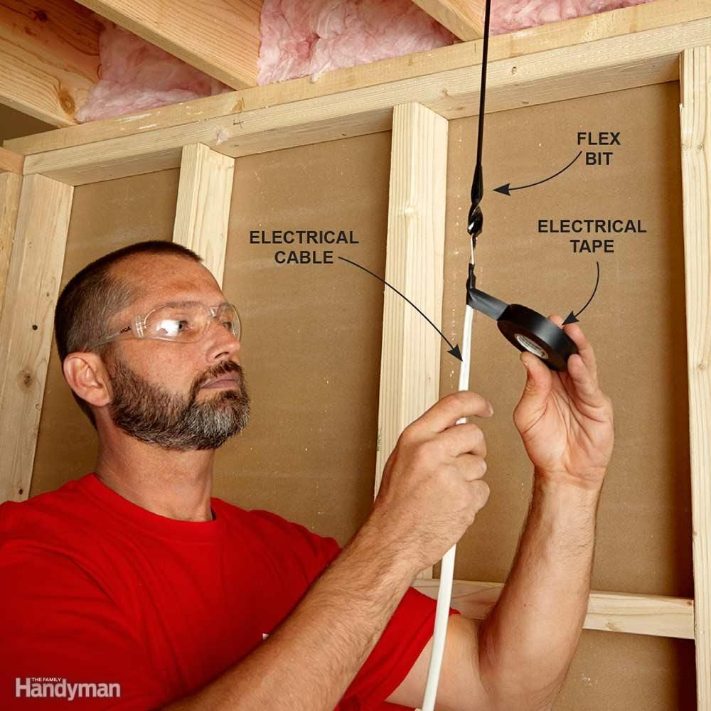 Fishing Electrical Wire Through Walls | Electrical work, Smart house ...
