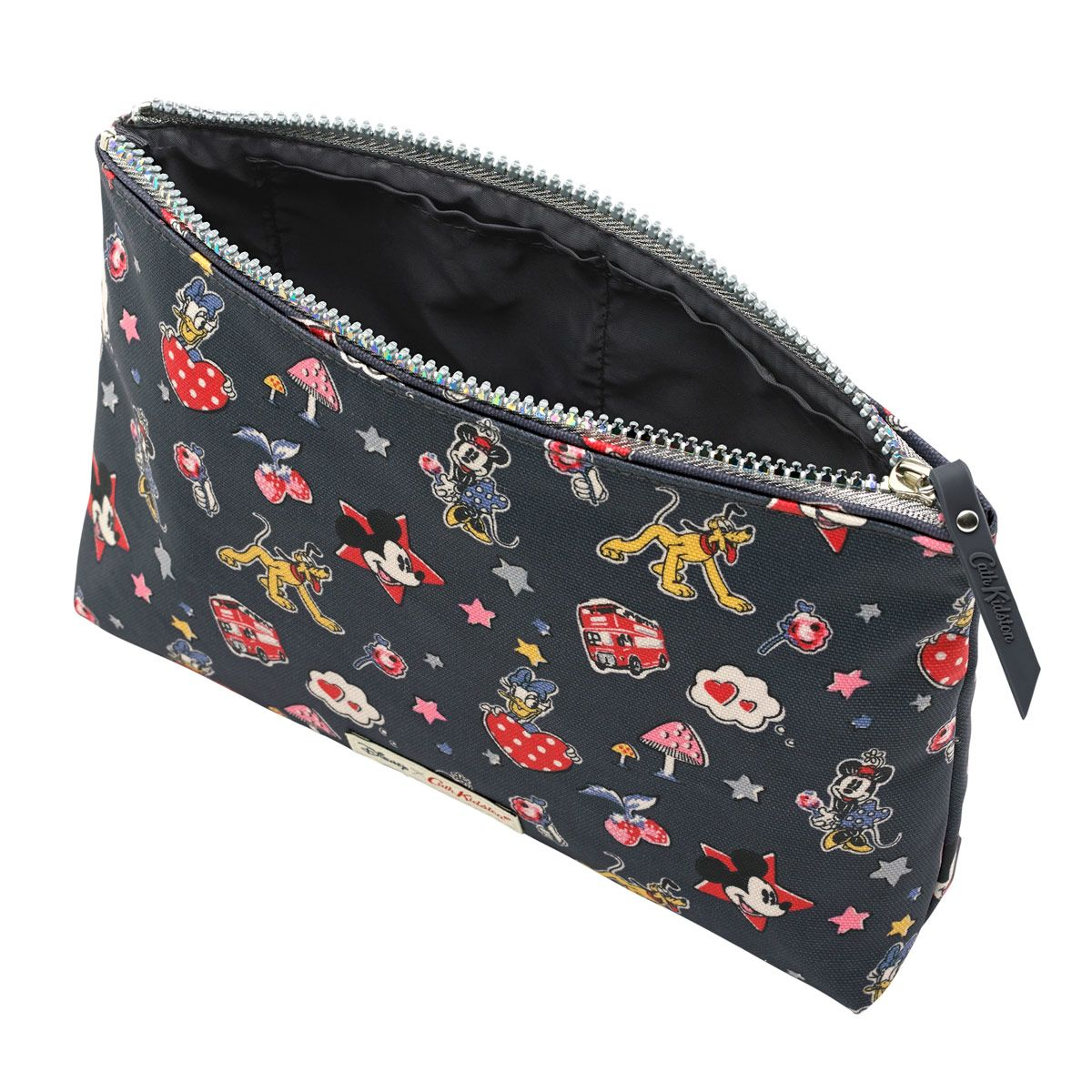 7fa2c25ae98 Mickey And Minnie Little Patches Zip Cosmetic Bag Mouse Accessories  Cathkidston