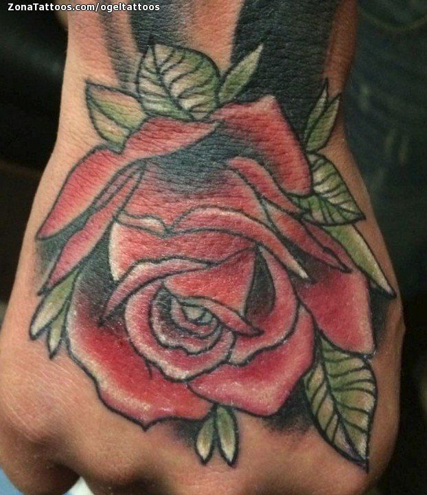 Tatuaje de rosas flores mano tatuajes and tattoo for Tattoo de flores