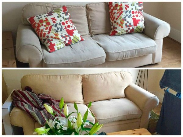 My first Pinterest project! A sofa rejuvenation :)