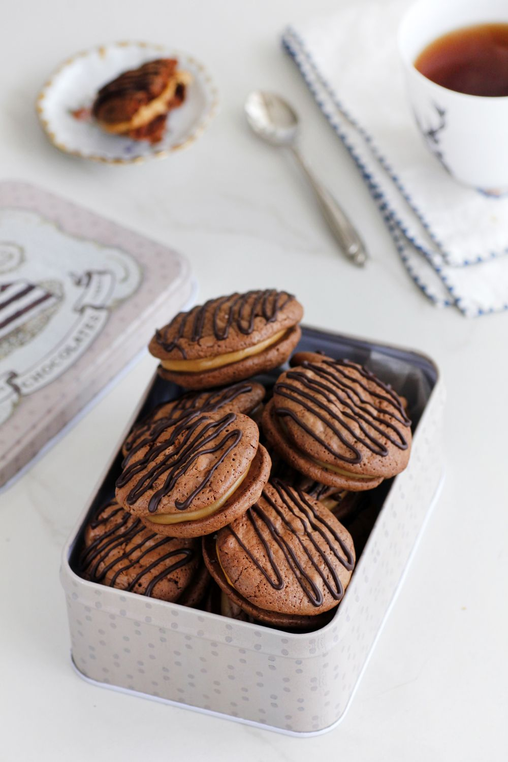 Chocolate and Coffee Sandwich Cookies (With images
