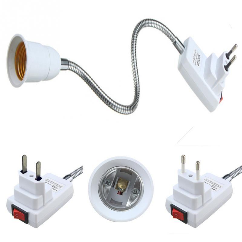 E27 Light Lamp Bulb Holder Flexible Extension Converter Switch Adapter Socket Eu Us Plug Light Bulb Lamp Lamp Socket Lamp Bulb
