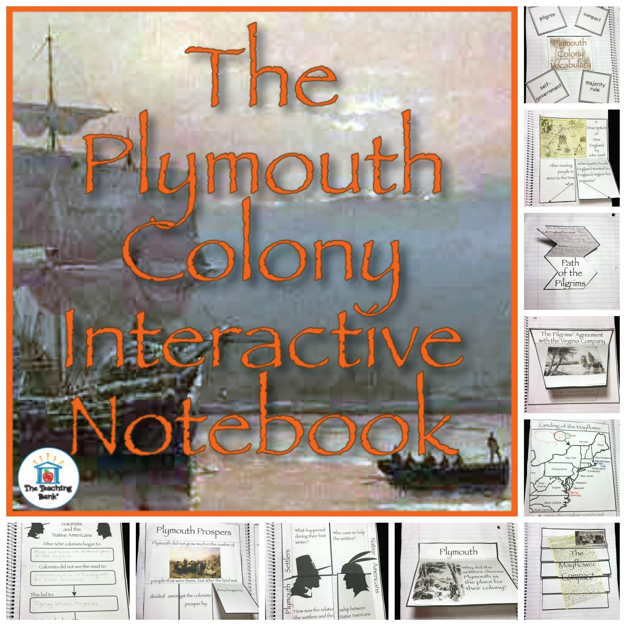 Plymouth Colony Us History Unit Distance Learning