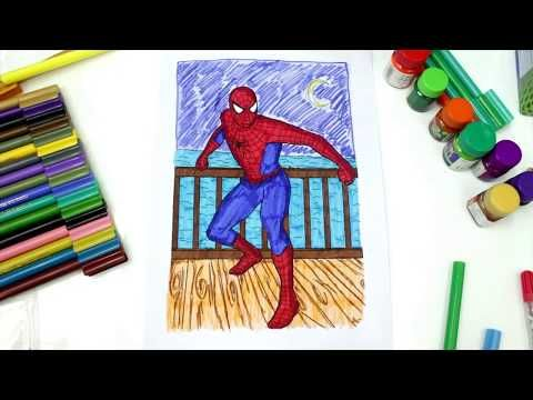 Coloring Spiderman Superhero Coloring Pages Spiderman Coloring