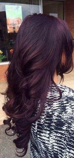 Dark Hair With Purple Tint Hair Styles Hair Color Plum Purple Hair Color Highlights