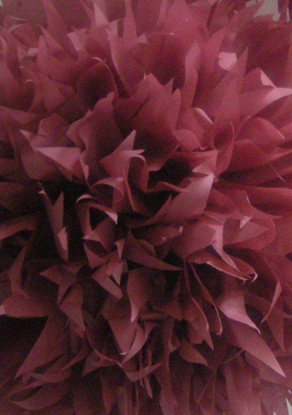 tissue paper pompom burgundy wedding nye decorations