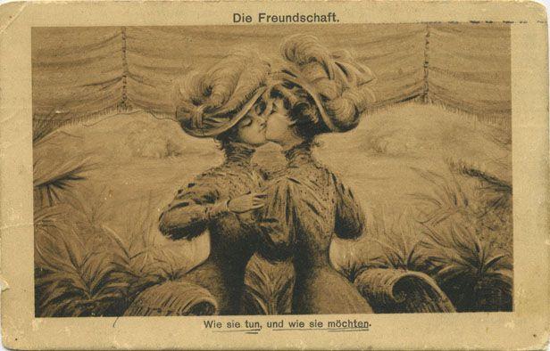 Die Freundschaft - the friendship, vintage postcard