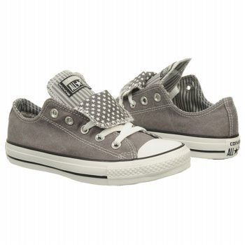 Athletics Converse Women's All Star Lo Double Charcoal/ White Star FamousFootwear.com