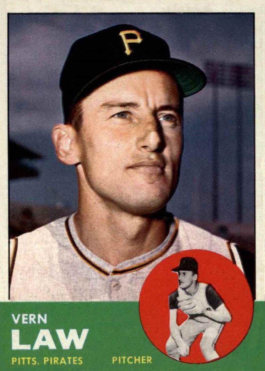 1963 Topps Vern Law Topps Baseball Cards Baseball Cards