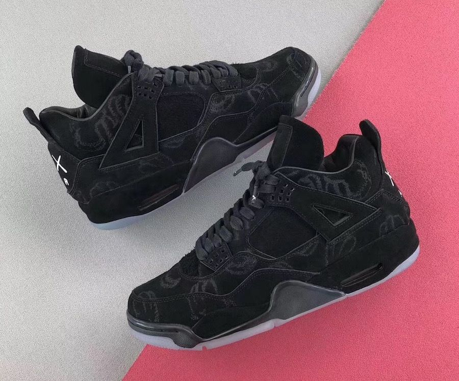 0ae538072fa4b1 KAWS x Air Jordan 4 in Black Releasing