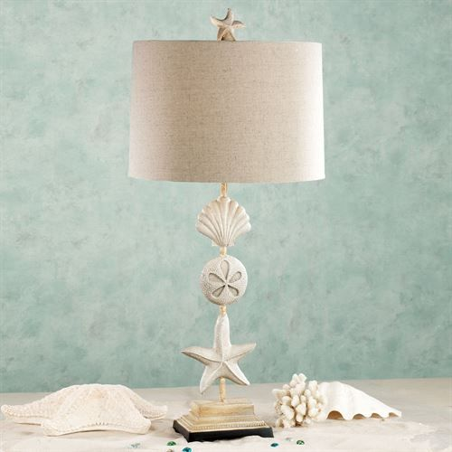 Cape Coral Table Lamp Sand Each With Cfl Bulb Coastal Lamp Beach Lamps Coastal Decorating Living Room