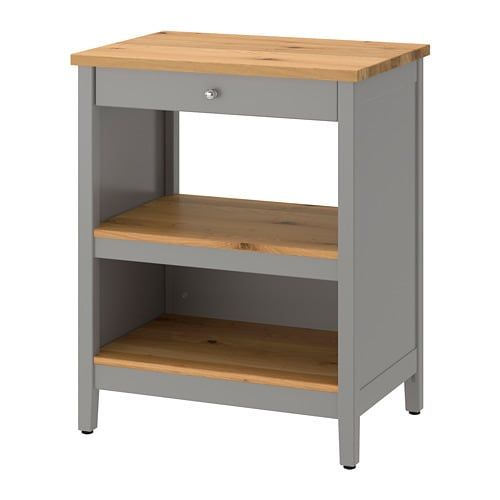 Tornviken Grey Oak Kitchen Island Width 72 Cm Ikea Ikea Kitchen Island Ikea Freestanding Kitchen Island