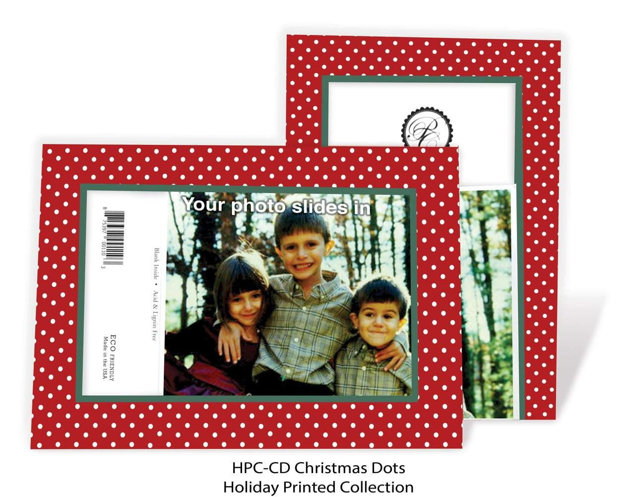christmas dots  photo insert cards christmas cards