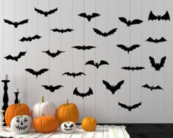 Halloween Wall Decals Bats   Love This Whole Vignette!