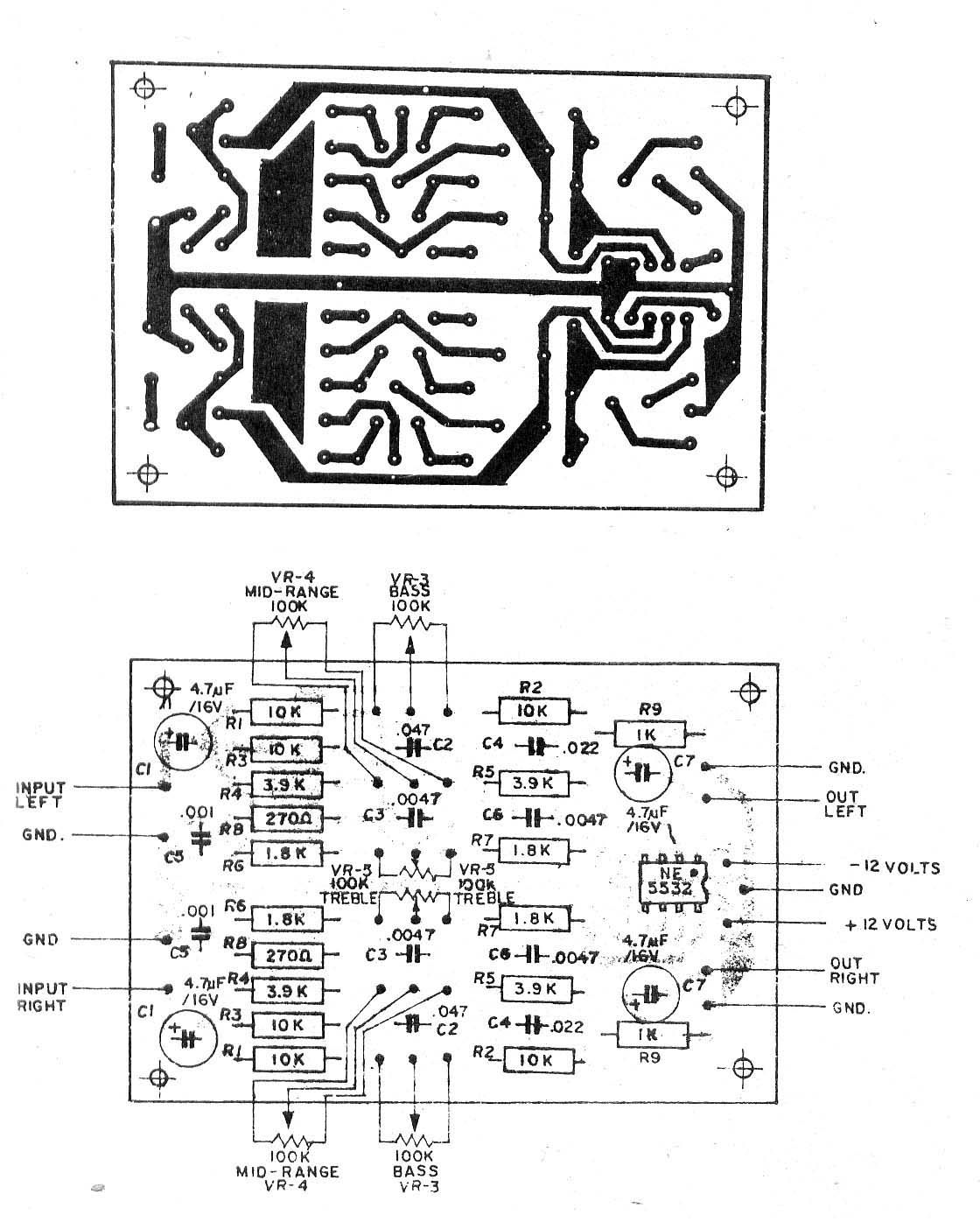 hight resolution of 3 bass mid treble tone control circuits projects using ne5532
