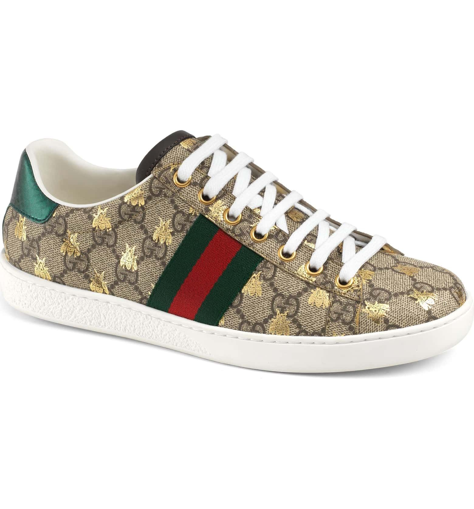 ecc4206be Gucci New Ace Monogram Bee Sneaker (Women) | Nordstrom | Wish list ...