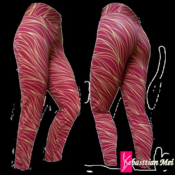 df2091100 Calça legging estampada em tecido suplex ( Poliéster 94% e Elastano 6%)A