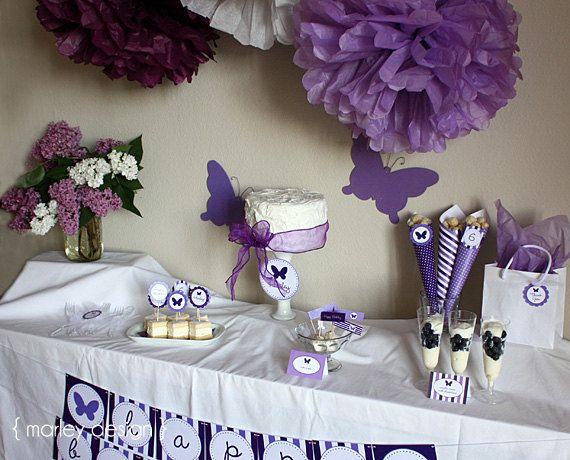Cadbury Purple Personalised Birthday Party Bunting Banner Garland