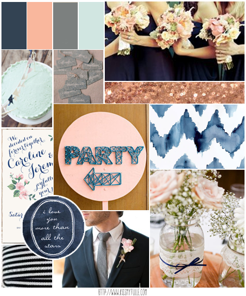 Wedding candy rustic blush pink and navy blue wedding for Navy blue and pink wedding