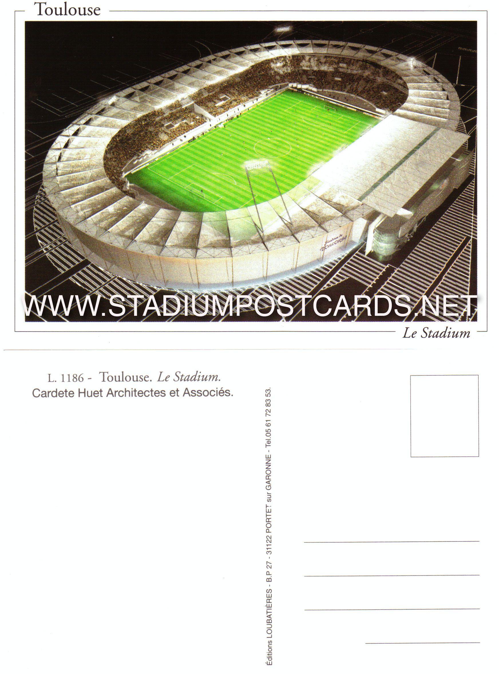 0 90 Code Fra 017 Toulouse Le Stadium Stadium Postcard