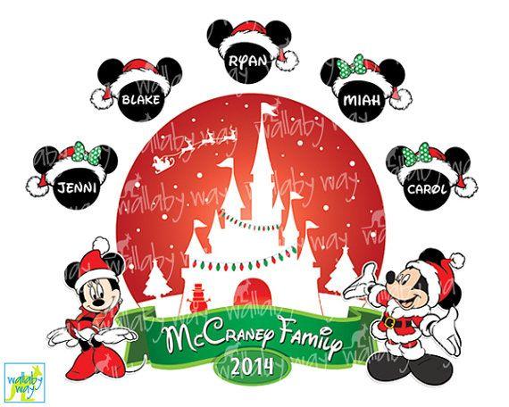 Christmas Disney Family Printable Iron On Transfer or ...
