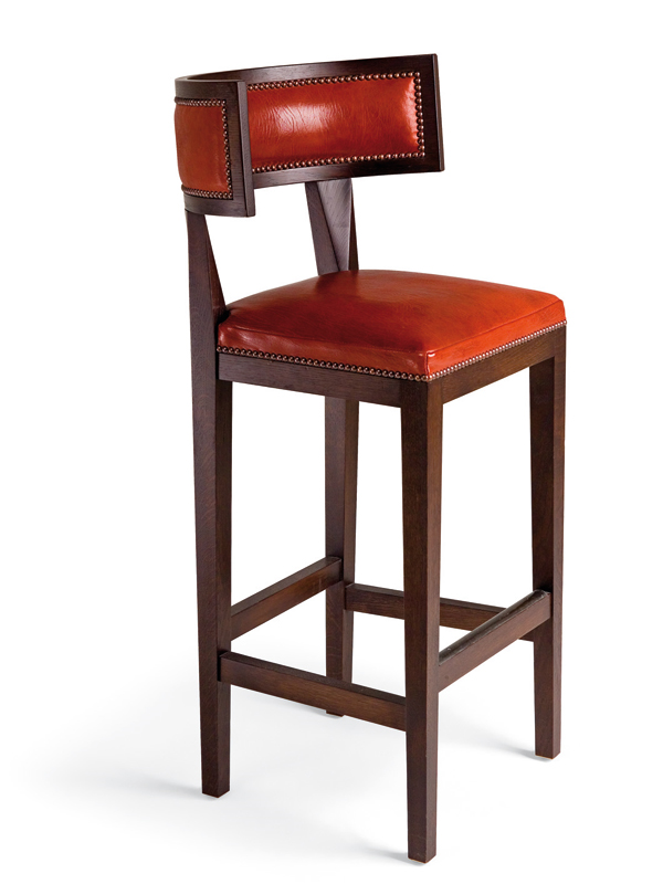 Fresh Morgan Leather Bar Stools