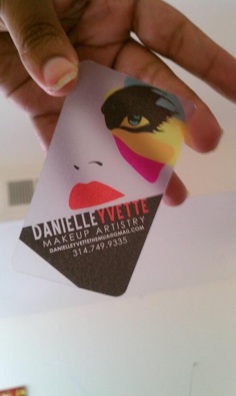 makeup artist's business card by jada boykin