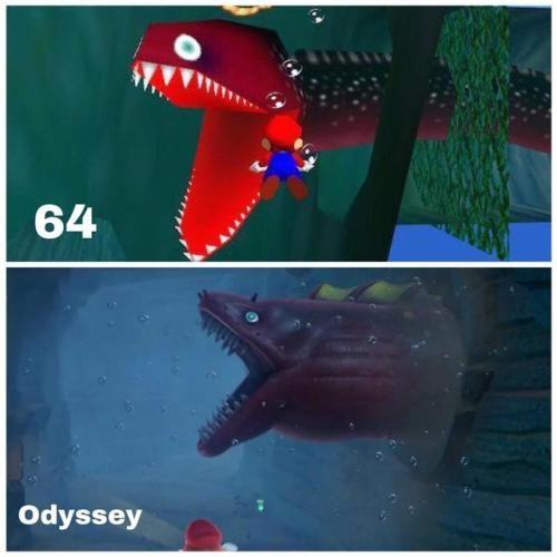 Mario 64 Vs Mario Odyssey Via Reddit Mario Funny Mario