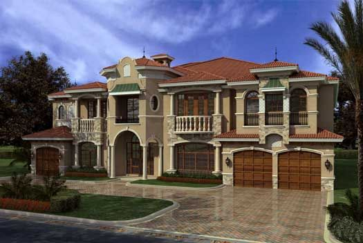 Florida Style House Plans - 7883 Square Foot Home , 2 Story, 7 ...