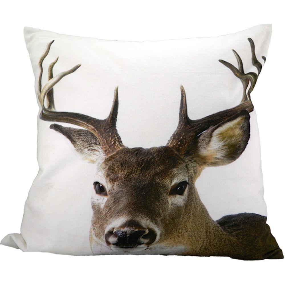 Kissen Fotodruck Hirsch Deer Pillow Deer Animal Heads