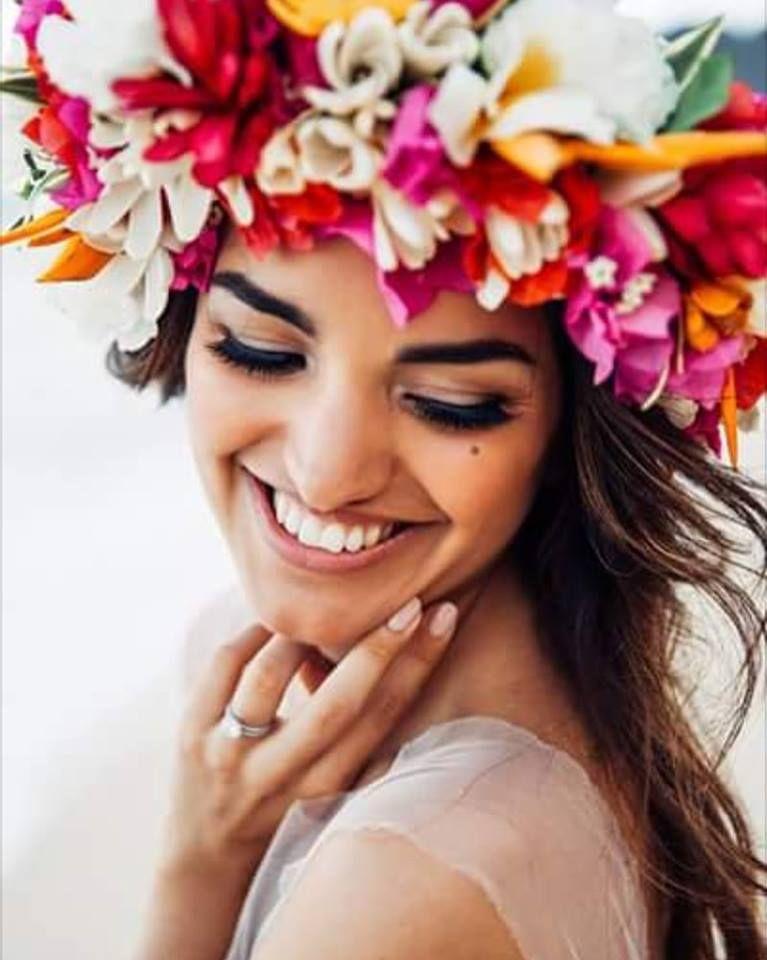 928937e689 How to Make a Tropical Hawaiian Flower Crown haku    flower crown    hawaii     exotic floral headpiece