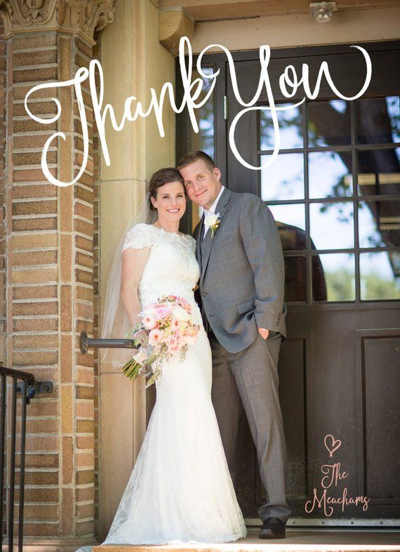 Fun Wedding Thank You Cards Magnets