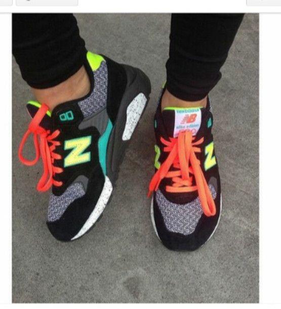 new balance noir et multicolor
