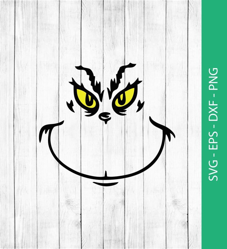Grinch Face Svg Png Eps Dxf Grinch Clipart Digital Download Instant Download Grinch Face Svg Grinch Printable Grinch
