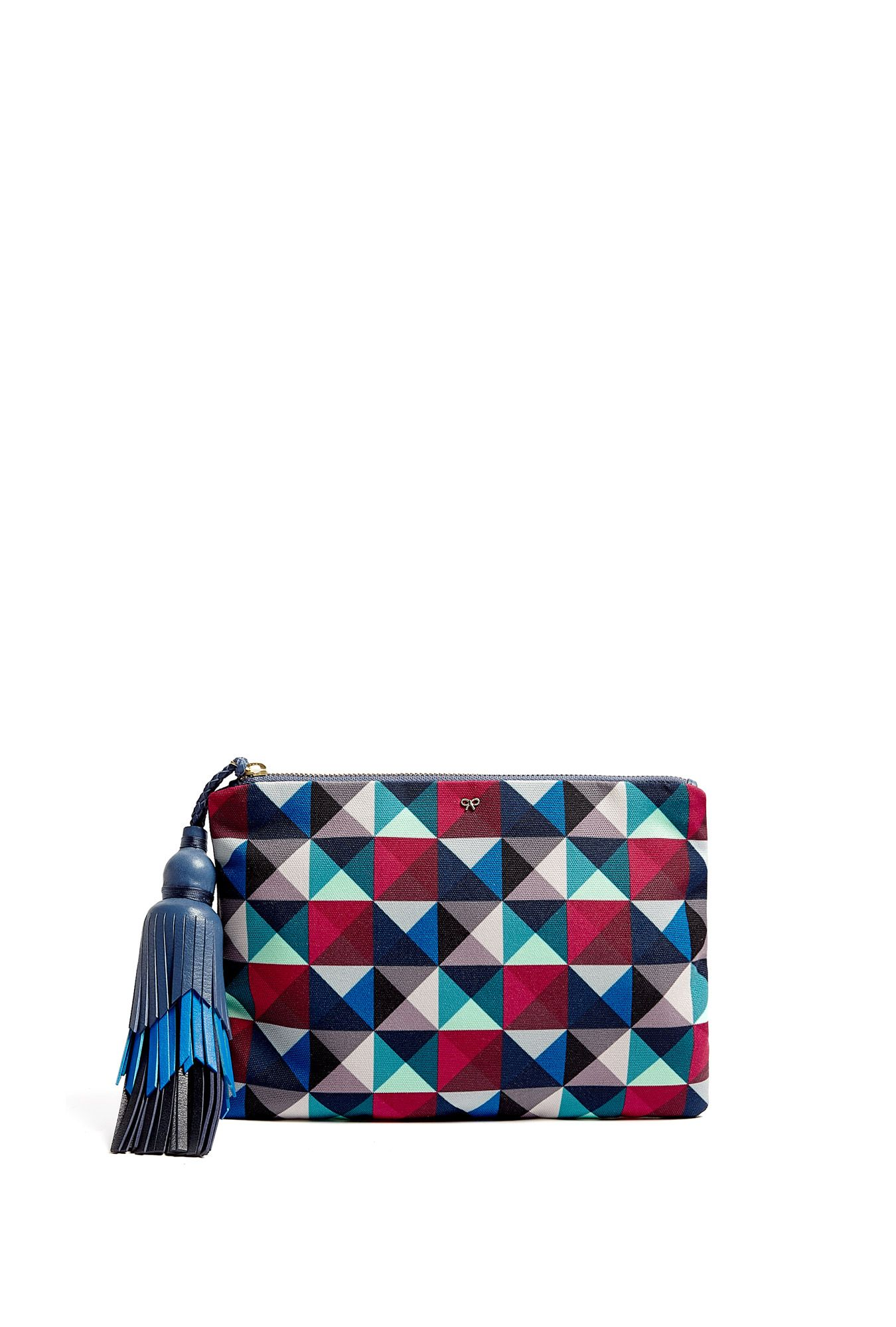 Give your evening clutch an update with a geometric print like this one from Anya Hindmarch. | styloko.com