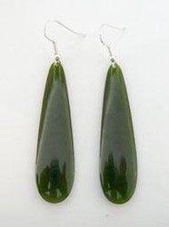 Greenstone Pounamu Drop Earrings