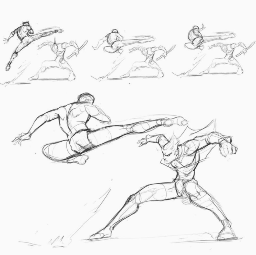 7 Anime Poses Fighting Sketch Art Reference Poses Manga Poses Figure Drawing Reference